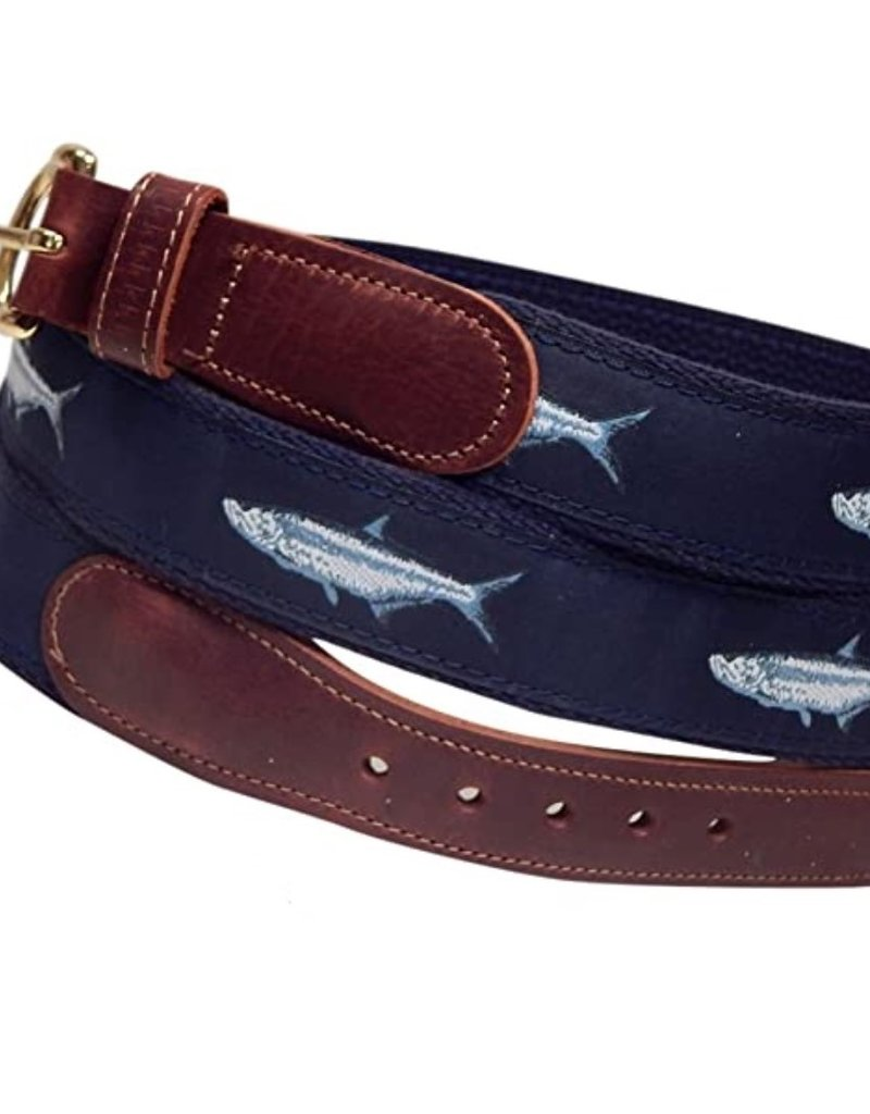 Preston Preston Leather Tan Belt w/Tarpon