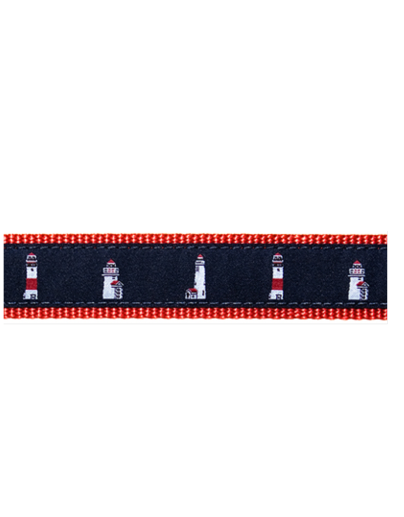 Preston Preston Leather Red Belt w/Lighthouse