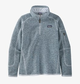Patagonia Girls Better Sweater 1/4 Zip Ice Blue