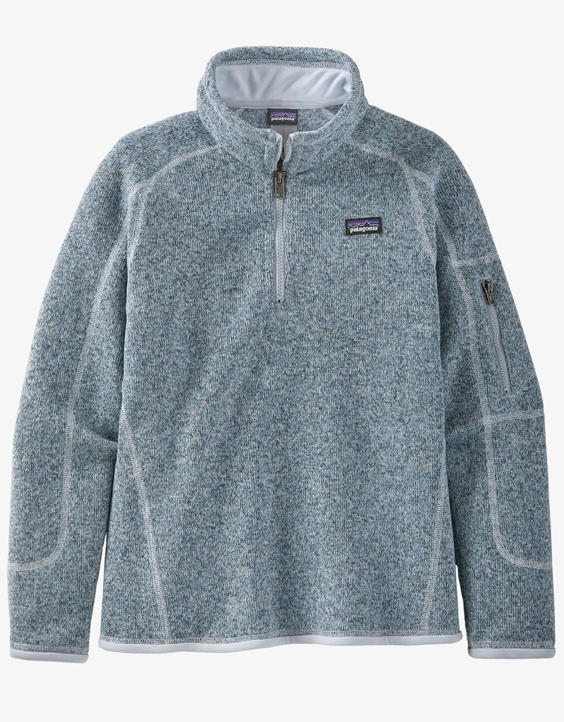 Patagonia Girls Better Sweater 1/4 Zip ICEB Ice Blue