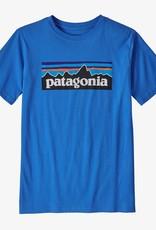 Patagonia Boys P-6 Logo Tee BYBL Bayou Blue