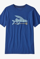 Patagonia Boys Graphic Tee FFSU Flying Fish Superior Blue