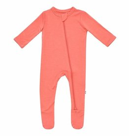 Kyte Baby Zippered Footie in Melon NB-6/12M