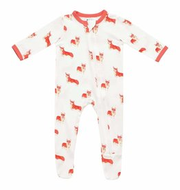 Kyte Baby Printed Zippered Footie Corgi NB