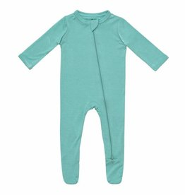 Kyte Baby Zippered Footie in Jade NB-6/12M