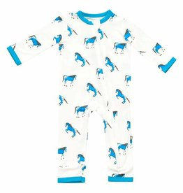 Kyte Baby Printed Zippered Romper Horse 0/3M-6/12M