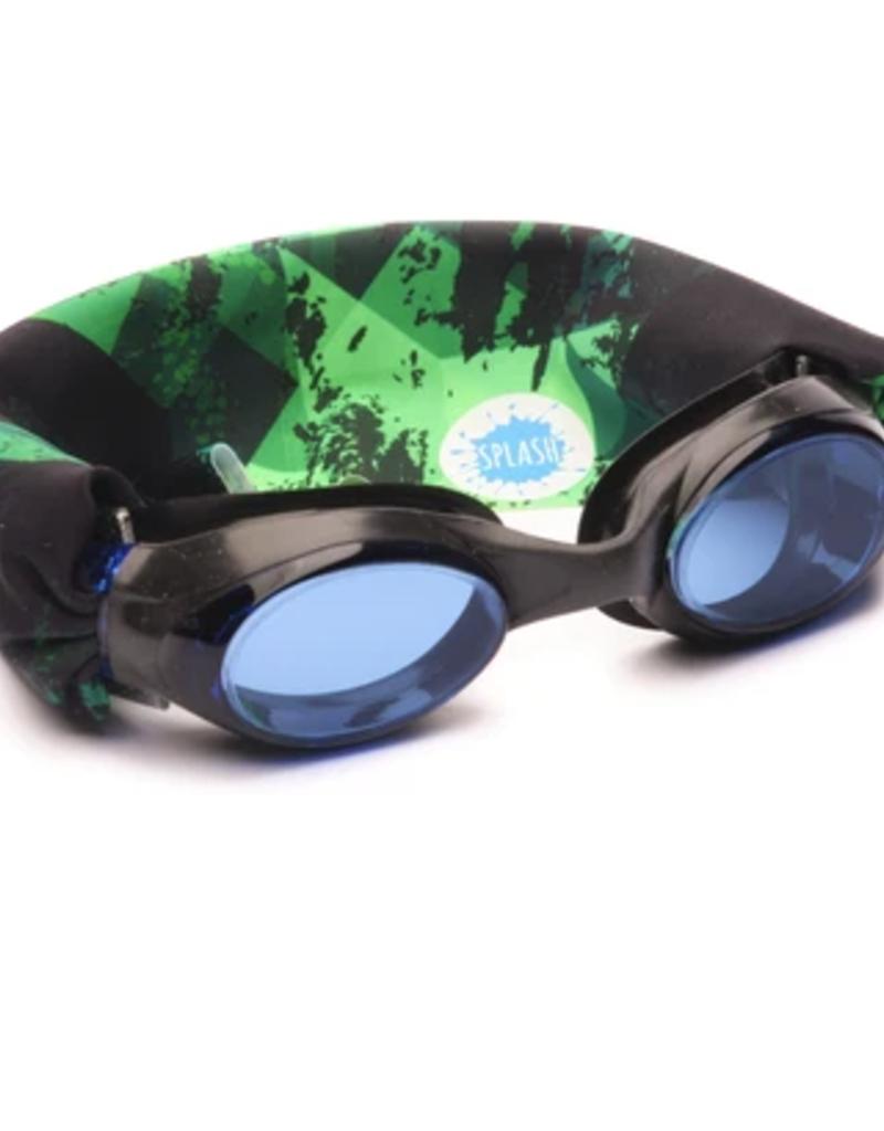 Splash Swim Goggles Green Fusion Swim Goggles