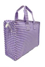TRVL Design Overnighter Gingham Lavender