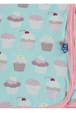Kickee Pants Print Swaddle Summer Sky Cupcakes