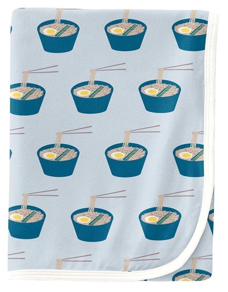 Kickee Pants Print Swaddle Illusion Blue Ramen