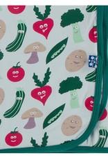 Kickee Pants Print Swaddle Illusion Blue Happy Veggies