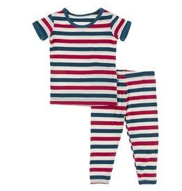 Kickee Pants S/S PJ Set USA Stripe