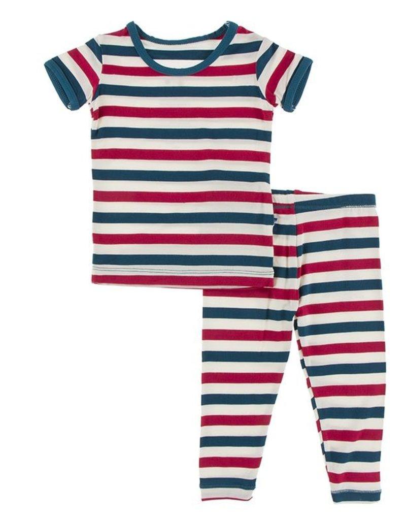 Kickee Pants Print S/S PJ Set USA Stripe