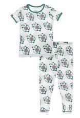 Kickee Pants Print S/S PJ Set Natural Ottercado
