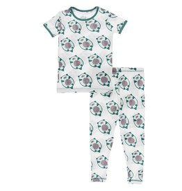 Kickee Pants S/S PJ Set Natural Ottercado 2T-8
