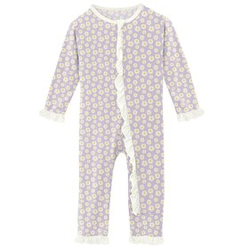 Kickee Pants Muffin Ruffle Coverall Thistle Camomile