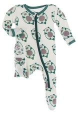 Kickee Pants Print Footie w/Zip Natural Ottercado