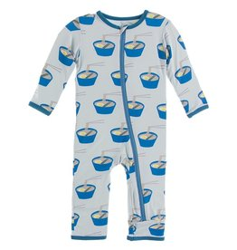 Kickee Pants Coverall w/Zip Illusion Blue Ramen 9/12M-18/24M
