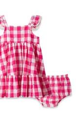 Little Me Gingham Pink Sundress