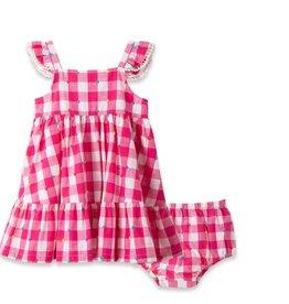 Little Me Gingham Pink Sundress 4T