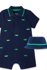 Little Me Gator Romper w/Hat