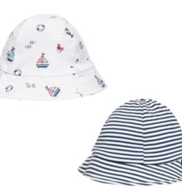 Kissy Kissy Summer Seas Reversible Sun Hat S-L
