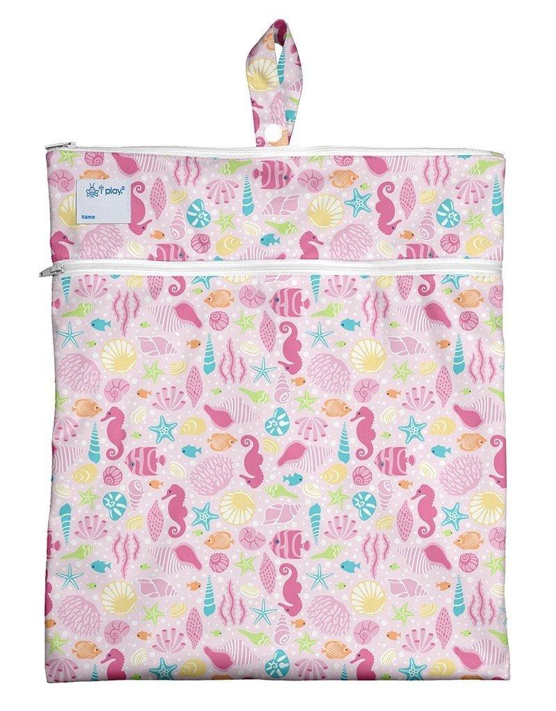 I Play Wet & Dry Bag Pink Sealife