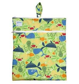 I Play Wet & Dry Bag Green Sealife