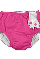 I Play Snap Reusable Swimsuit Diaper Hot Pink