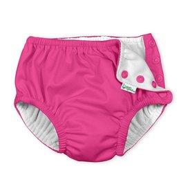 I Play Snap Reusable Swim Diaper Hot Pink 6M-3T