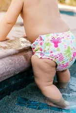 I Play Snap Reusable Swimsuit Diaper White Sea Pals