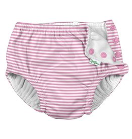 I Play Snap Reusable Swim Diaper Lt Pink Pinstripe 6M-3T