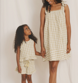 Rylee & Cru Gingham Leonie Top Butter Check
