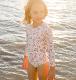 Rylee & Cru Flower Outline Rashguard 1 Piece