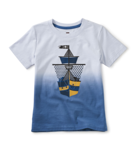 Tea Collection Dip Dye Ship Shape Graphic Tee 2-14