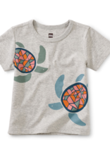 Tea Collection Sea Turtles Graphic Tee Lt Grey