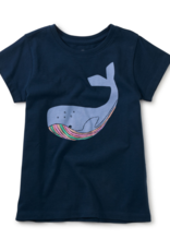 Tea Collection Tall Tail Graphic Tee Whale Blue