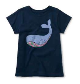 Tea Collection Tall Tail Graphic Tee Whale Blue 2-12