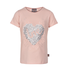 Creamie Sequin Love S/S Tee Rose Smoke
