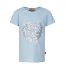 Creamie Sequin Love S/S Tee Celestial Blue 7-14