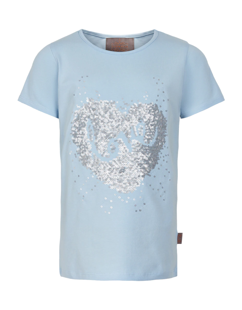 Creamie Sequin Love S/S Tee Celestial Blue