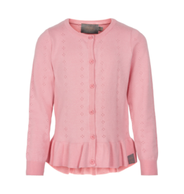 Creamie Pointelle Cardigan Pink 7-12