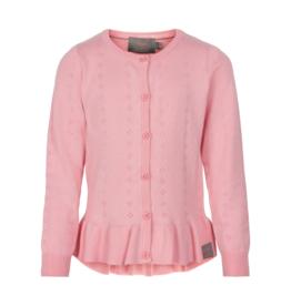 Creamie Pointelle Cardigan Pink