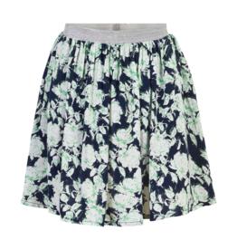 Creamie Flower Outline Skirt Navy