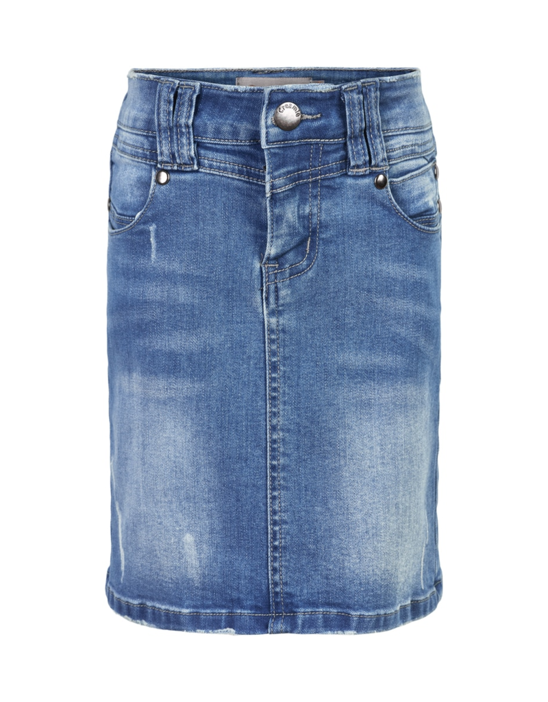 Creamie Lt Blue Denim Skirt