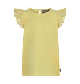 Creamie Lace S/S Tee Yellow 7-10