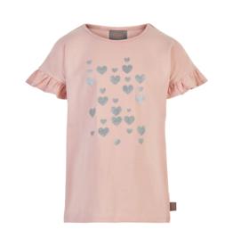 Creamie S/S Silver Heart Tee Rose Smoke 7-14