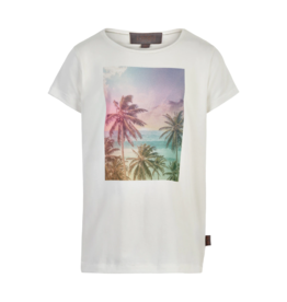 Creamie S/S Tee w/Palm Tree Photo 7-12