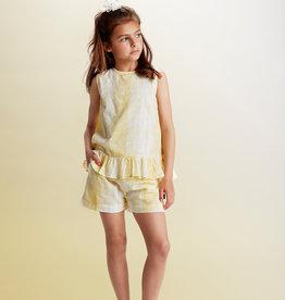 Creamie Tie Dye Shorts Yellow