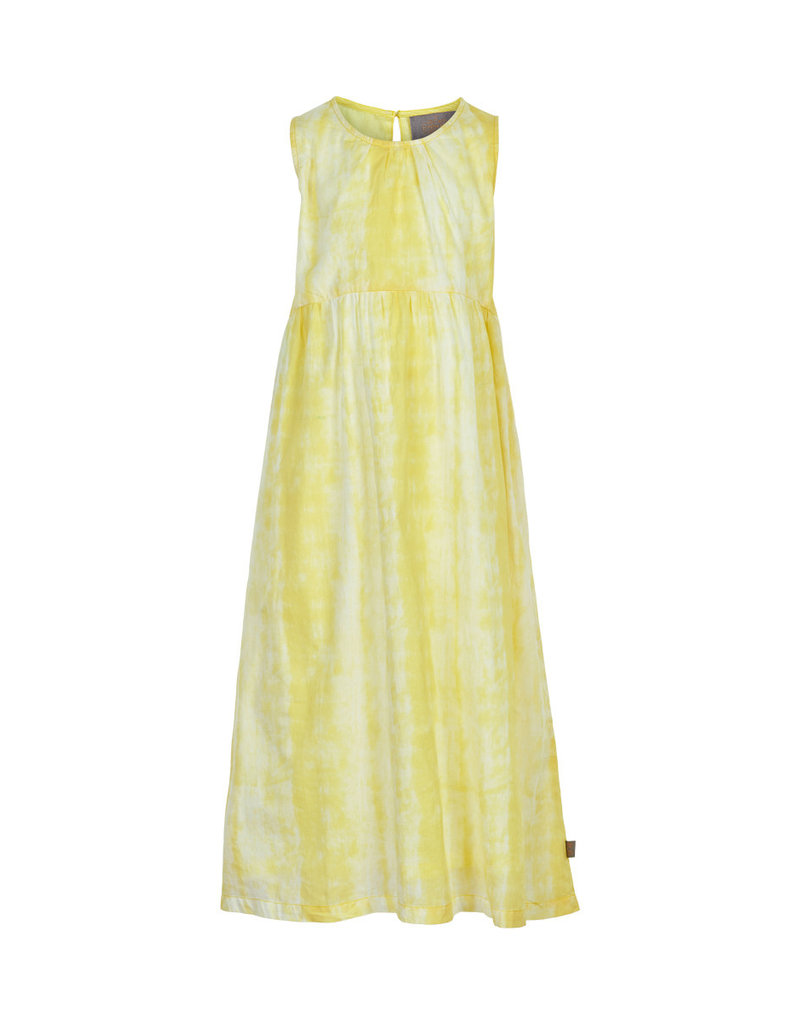 Creamie Tie Dye Sleeveless Dress Yellow